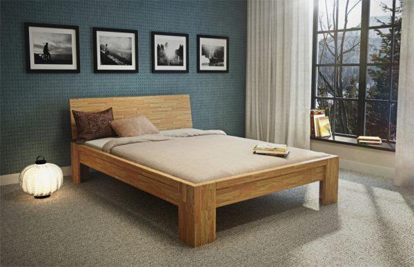 łóżko dębowe Montana