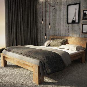 Łóżko dębowe Montana SONOMA