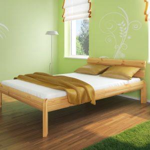 mocne łóżko sosnowe