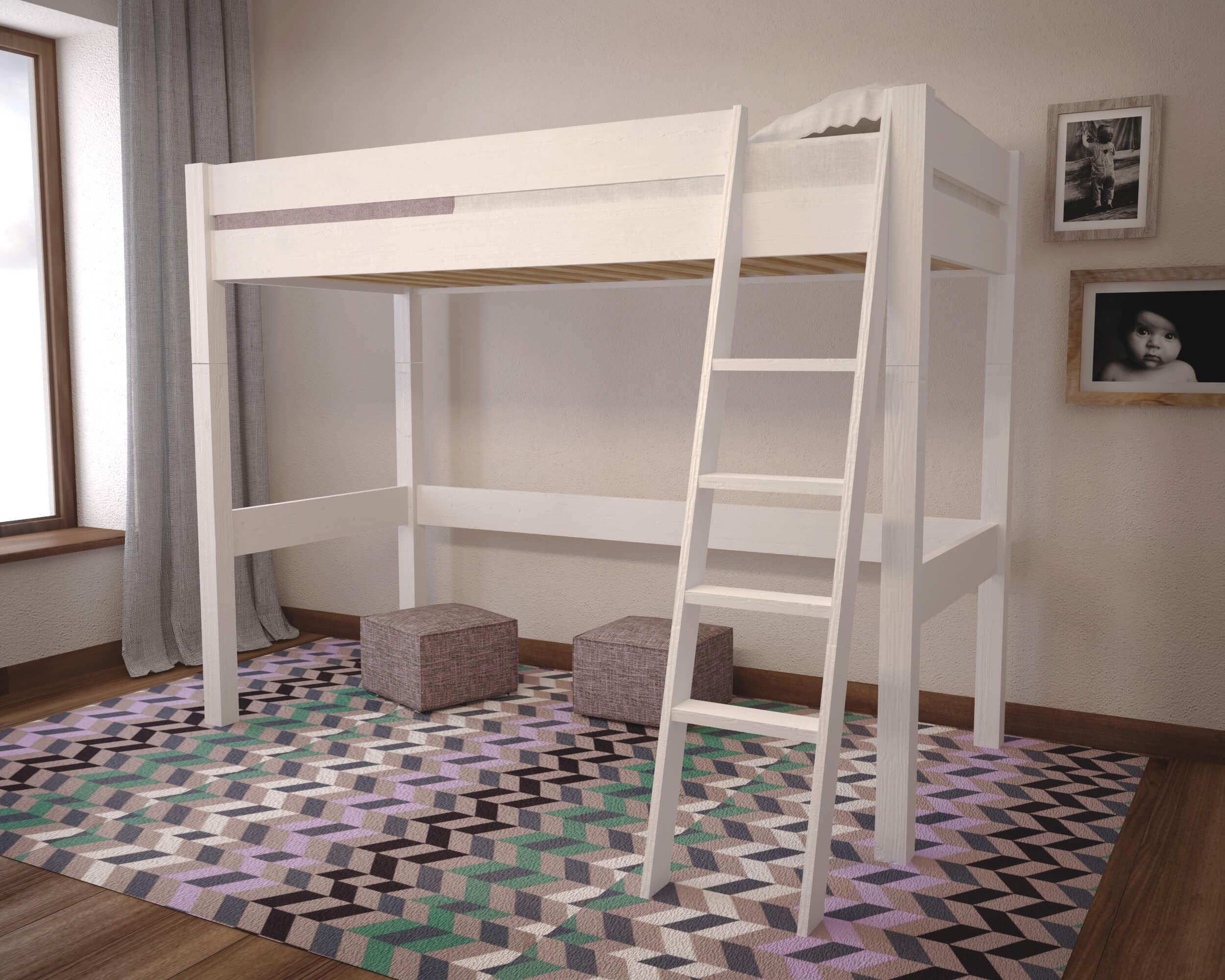 Białe łóżko Na Antresoli Lola F40