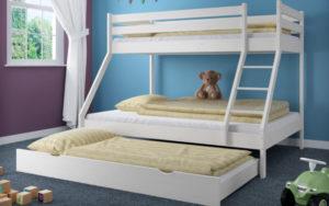 Potrójne łóżko piętrowe dla dzieci