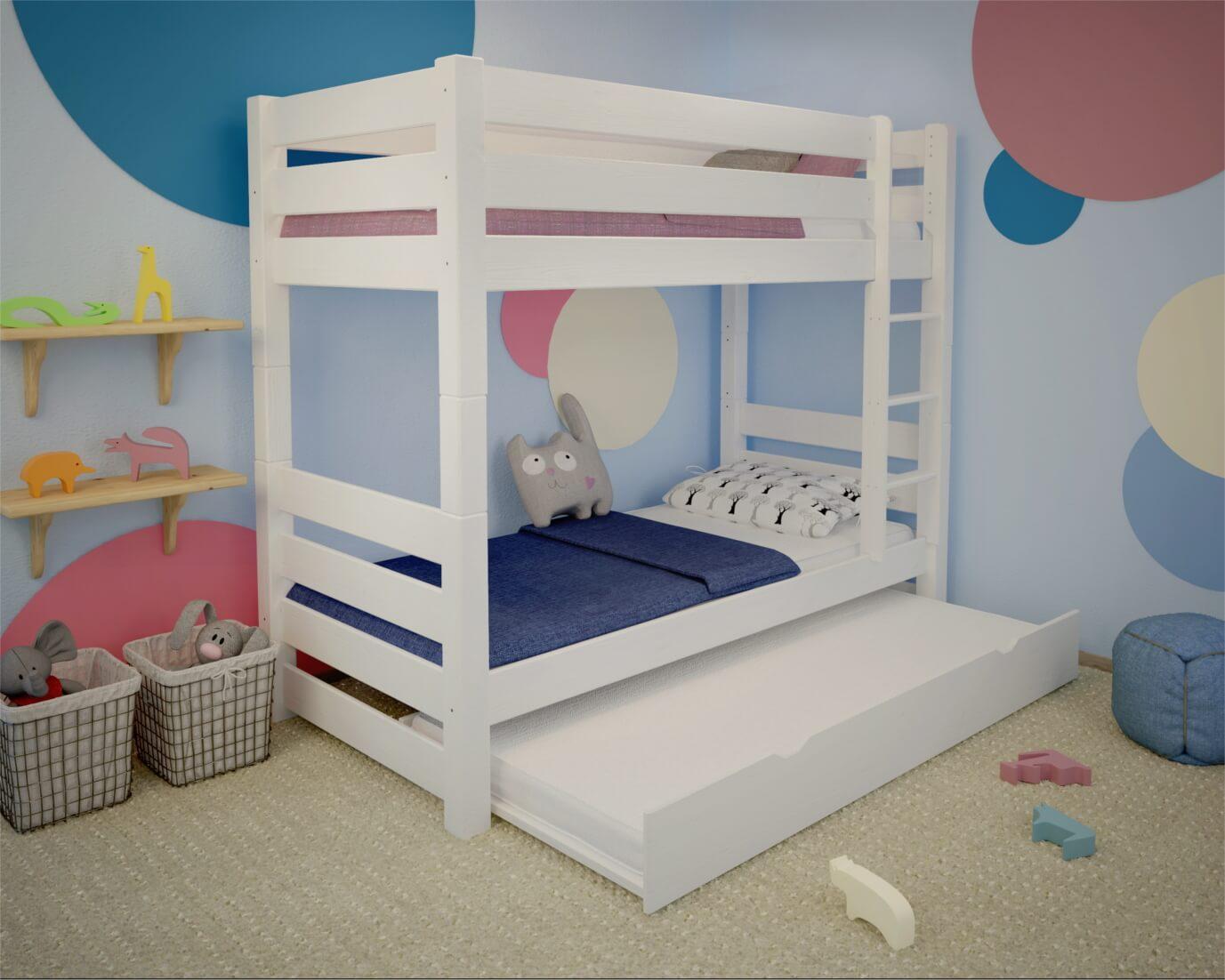łóżko Piętrowe Jan Plus Białe