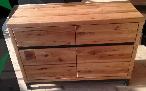 komoda drewno metal industrialna