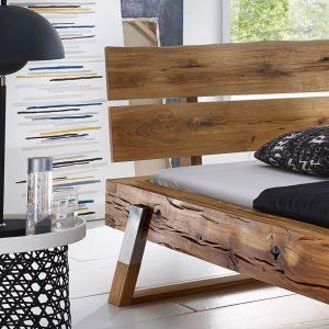 dębowe łóżko do loftu