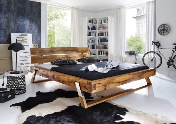 łóżko dębowe typu loft