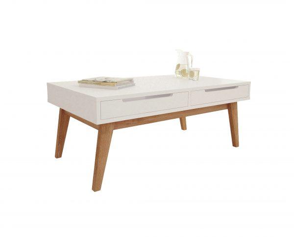 minimalizm biały stolik kawowy