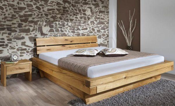handmade łóżko dębowe z szufladami