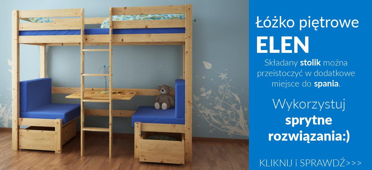 łóżko pietrowe z biurkiem dla dzieci