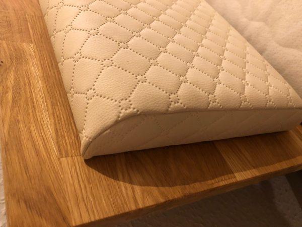 oparcie łóżka tapicerka dab