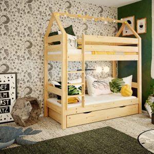 łożko domek z barierkami