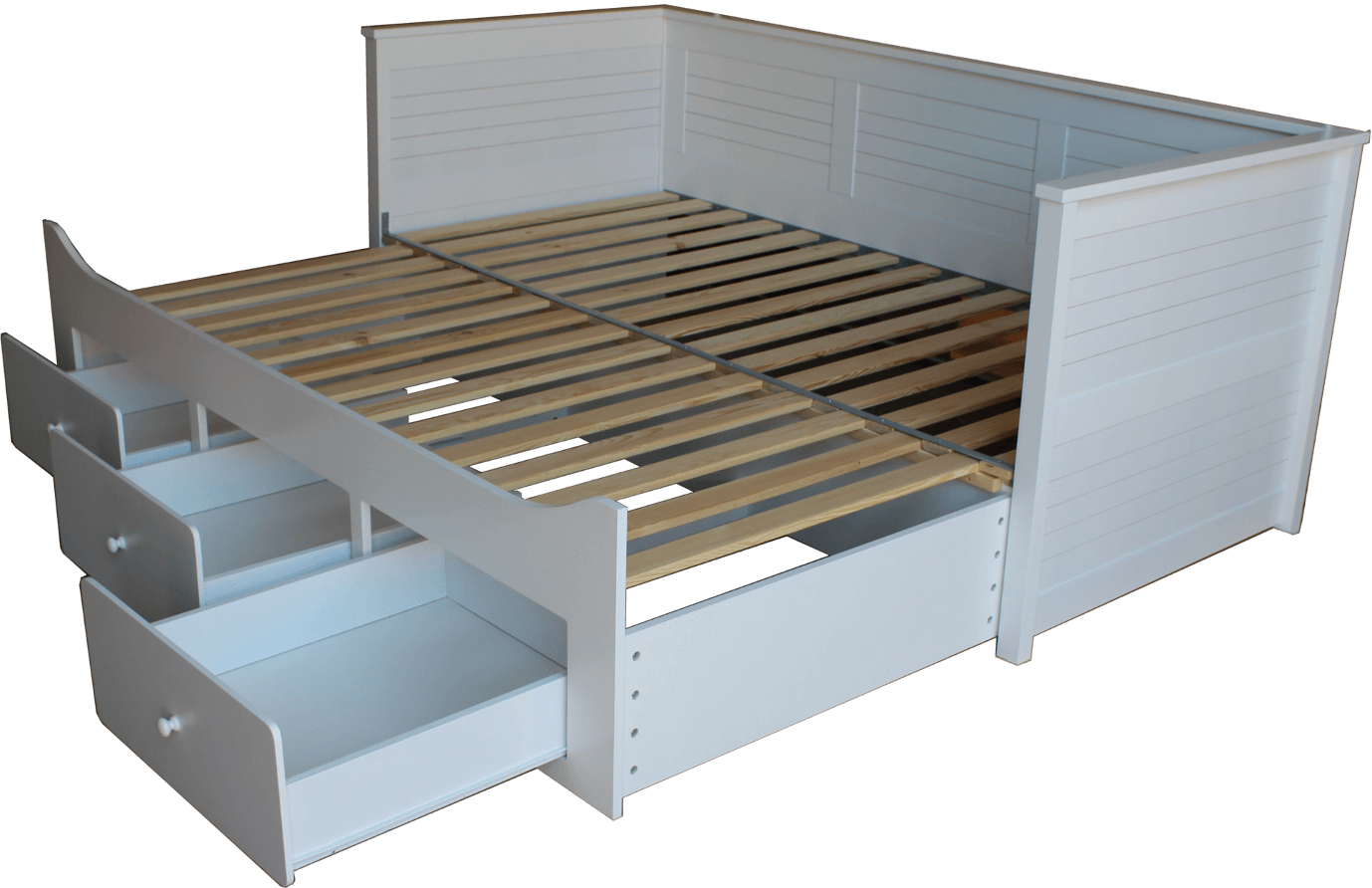 łóżko rozkładane białe