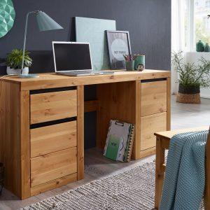biurko sosnowe w kolorze dębu