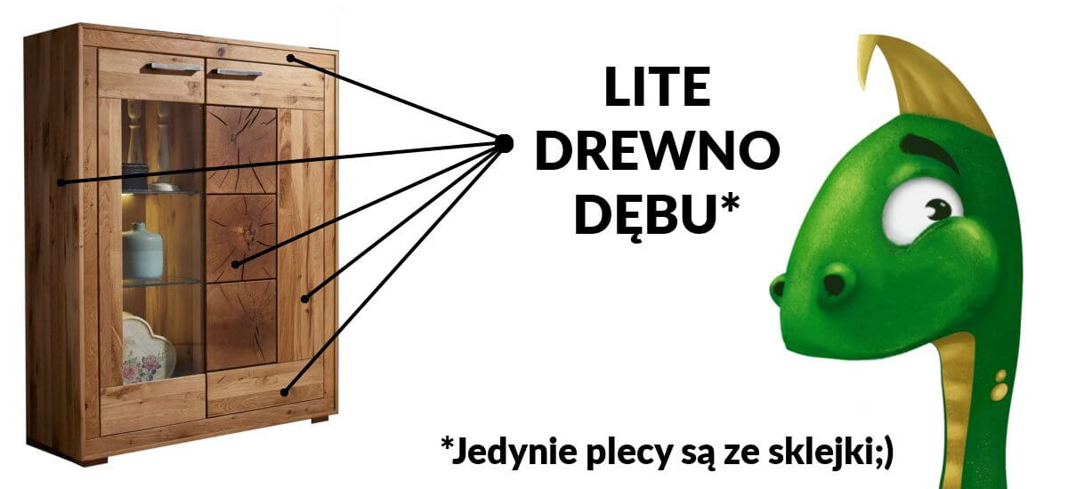 dębowe meble do salonu