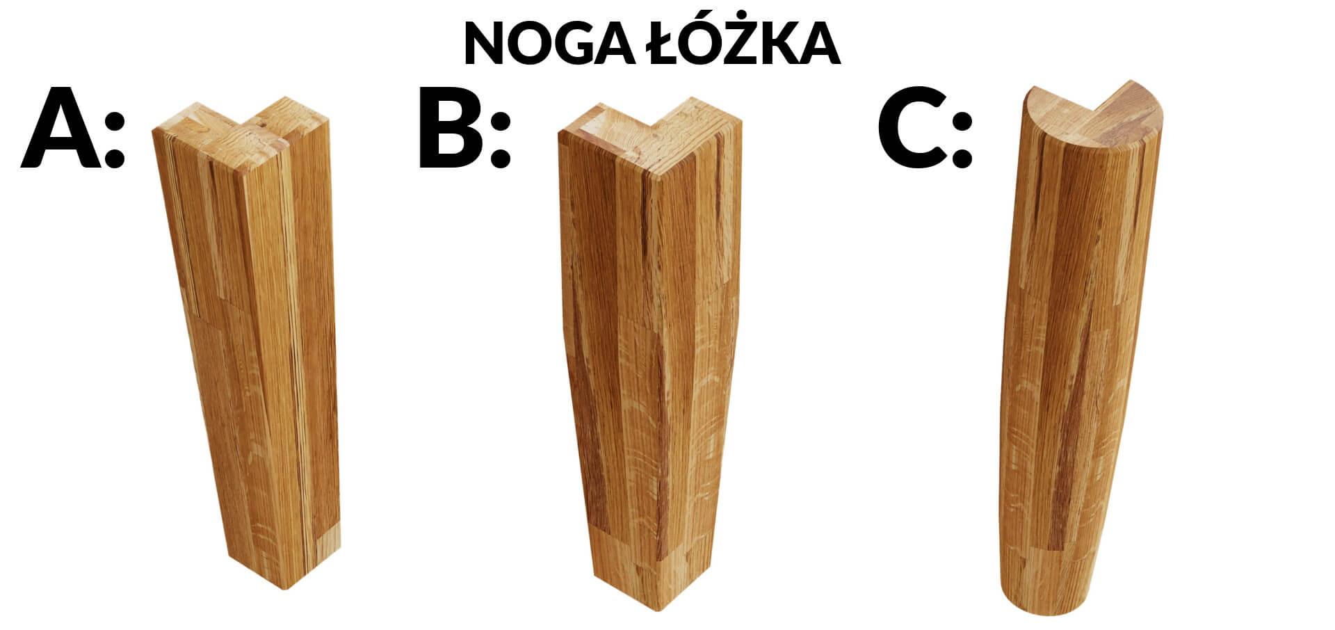 drewniana noga łóżka